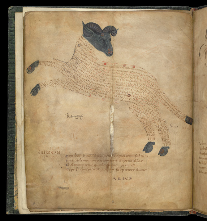 The Constellation Aries, in a late Roman version of Cicero's 'Aratea'